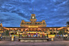 Magic Kingdom Train Station (Omar E. Martinez) Tags: world christmas sunset station night train tren navidad noche nikon magic entrance disney estrada estacion wdw 700 walt hdr mk kigdom