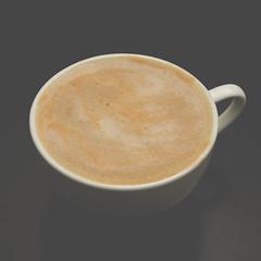 Almond Milk Latte (mvos18) Tags: white coffee canon ceramic shot flat mug espresso latte almondmilk 60d coffeelivenet