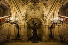 Opera Paris (Atibordee_K) Tags: travel music paris france tourism architecture night de golden design hall opera europe stair gallery european exterior interior stage paintings decoration culture grand landmark palace tourist historic chandelier national palais destination baroque garnier barocco
