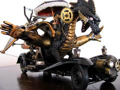 Airship Interceptor Vehicle (Lesneyman) Tags: car umbrella dragon gothic goth steam fantasy vehicle warship interceptor steampunk tinkering phantasy lesneyman