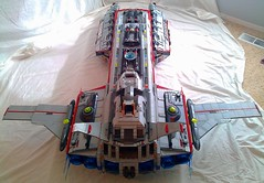 Aurora Exterior Top Rear (LegoSpaceGuy) Tags: brick ship lego space scifi spaceship sci starship moc classicspace
