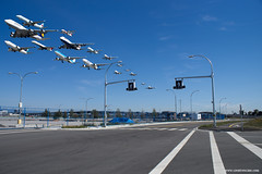 YVR arrivals composite (Zorro1968) Tags: composite ana aircraft aviation jazz boeing klm airlines yvr westjet 777 lufthansa boeing747 arrivals unitedairlines continentalairlines aircanada boeing737 airtransat