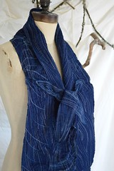 your river scarf2 (Danny W. Mansmith) Tags: blue texture water thread scarf river soft handmade oneofakind sewing stitching wearableart fiberart tieup dannymansmith burienwashington wwwdannymansmithetsycom