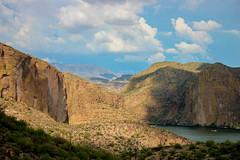 280 (bri_wynsma) Tags: arizona lake mountains clouds shade apachetrail