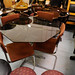 Retro 50p glass dining table