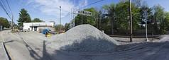 DSC06348NX5Na Gravel Pile  2015 Paul Light (Paul Light) Tags: panorama massachusetts panoramic concord gravel railroadtracks reallyrightstuffpanokit