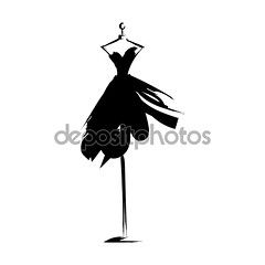 manequim (Ana Ferrazza) Tags: mannequin dress gown hand drawing sketch dummy silhouette wind waving black scribble scrawl flying outline refined contour fluffyskirt party cocktaildress stylization clothing sewing atelier isolation fashion woman tailor girl model evening manikin isolated clothes garment designer dressmaker figure front design measure textile vector illustration beautiful shop boutique nice classic