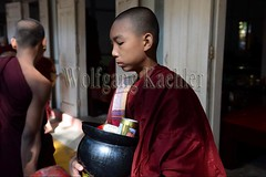 30099743 (wolfgangkaehler) Tags: 2017 asia asian southeastasia myanmar burma burmese mandalay mahagandayonmonastery mahagandayonmonastary people person monks buddhist buddhistmonasteries buddhistmonastery buddhistmonk buddhistmonks almsceremony almsbowls meal