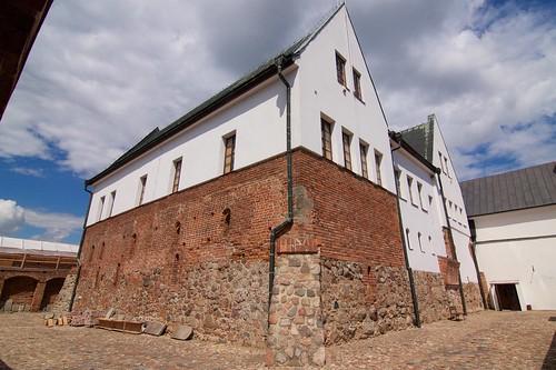 Budynki zamku w Gosławicach od południowego zachodu