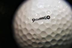 Positive Spaces, the dark side of the ball (Rod Anzaldua) Tags: hmm macro macromondays golf golfball