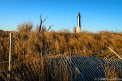 The Twins of Cape Henry (scottymanphoto) Tags: 1700s 1792 1800s 1881 landscape seascape va america beach beachgrass beautiful bluesky brown coastguard colorful early earlymorning fallenfence fence fenceline fortstory historic history horizon landmark leadinglines lighthouse luring morning nationalregister natural nature nautical ocean old outdoors outside picketfence places posts sand sandy scenery scenic sea tranquil tree vintage virginiabeach vista warm water wideangle winter