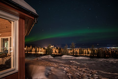 View out of the window (knipslog.de) Tags: arcticfalls arjeplog schnee schweden storforsen waterfall panorama polarlights snow winter ice reindeer caribou