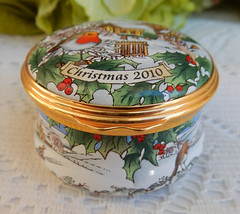 Halcyon Days English Enamels Trinket Box ~ 2010 Christmas (Donna's Collectables) Tags: halcyon days english enamels trinket box ~ 2010 christmas