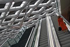 heels on stairs.. (leuntje) Tags: denhaag netherlands holland escalator railwaystation centralstation architecture prorail ns crouwel benthemcrouwel denhaagcentraal stairs