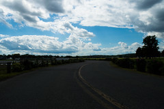 Take a Ride (Cameron_Rodriguez) Tags: road travel summer sky urban beautiful modern clouds daylight pretty day stripe transportation leadinglines diffusedlight directionallight greatdepthoffield