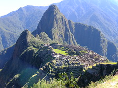 View over Machu Picchu, Cusco province, Peru.