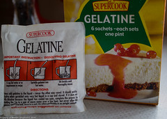 Gelatine for clearing. (martinbrampton) Tags: england food unitedkingdom homebrew brampton beermaking march2013 townfootpark