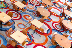 Circles and Squares (giantmike) Tags: carpet chairs fromabove tables canonef24105mmf4lis