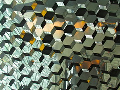 Hexagons (quiggyt4) Tags: reflection building glass architecture modern stairs reflections mirror hall iceland concert pattern exterior geometry surrealism interior hexagonal mirrors modernism surreal reykjavik ceiling cube hexagon escher urbanism downstairs topology mcescher conferencecenter icelandic cubism harpa ronpaul ows inception occupy christophernolan harpaconcerthall occupywallstreet