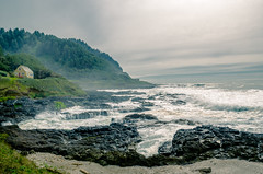 103 Oceanview Dr. (z_d_d) Tags: ocean camera trees two cliff usa house mist seascape black west tree green beach beautiful up grass yellow misty oregon wonderful lens landscape photography drive coast us photo interesting nikon rocks pretty waves mood alone moody view shot angle little dr edited wide cottage rocky wave atmosphere cliffs made coastal photograph adobe mysterious land lone coastline mystical lonely mm split splash toned vignetting oceanview vignette tone 103 address mystic lightroom toning 18135 oceanscape mysitical d5100
