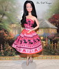Vintage Snowprincess in Black Kitten Dress (The doll keeper) Tags: pink black cat outfit kitten doll dress barbie snowprincess ravenhair