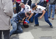 "Arrest on Veterans Day • <a style=""font-size:0.8em;"" href=""http://www.flickr.com/photos/45090765@N05/14358357068/"" target=""_blank"">View on Flickr</a>"