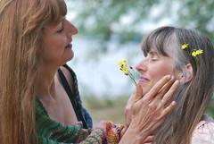 Friends a field of flowers (Time-Freeze) Tags: friendsandflowers