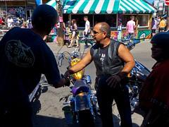 Kensington Market (- Jacques) Tags: street people toronto biker kensington lx5s