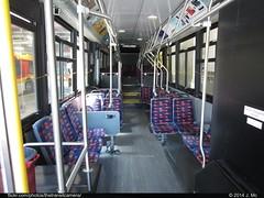 CyRide 504 Interior (TheTransitCamera) Tags: city red bus public gold university ride state iowa system transit orion ames isu vii cyride cyr504