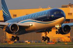 4K-AZ81, Heathrow, June 12th 2014 (Southsea_Matt) Tags: sunset lhr boeing767 londonheathrow egll azerbaijanairlines 4kaz81