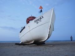 _6282555 (FloBue) Tags: sea beach strand landscape boot evening abend boat meer barca mare landschaft spiaggia paesaggio abruzzo sera 2014 vasto