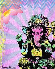 Ganesha Art (Brooke LeAnne) Tags: elephant flower art illustration ganesha colorful artist peace sandiego lotus god mixedmedia om spiritual hindu inspiring uplifting artprint mindbodysoul brookeleanne