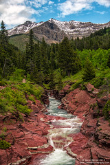 Red Rock Canyon (Dwood Photography) Tags: redrockcanyon park blue trees red mountain canada mountains green water rock pine landscape waterfall lakes canyon pines national alberta waterton 2014 watertonlakesnationalpark dwoodphotography dwoodphotographycom canadawatertonlakesnationalparkalbertacanada
