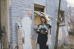 maggie2 (Benny Hutch) Tags: windows portrait woman building abandoned broken minnesota fashion canon lens eos prime graffiti design model pattern handmade minneapolis 85mm tags womens fixed usm graff f18 length northeast apparel 6d focal womenswear