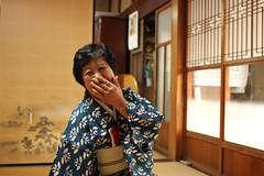 Sensei giggling (Enroutetoawesome) Tags: japan kimono teaceremony nofilter chanoyu urasenke canon28mmf18