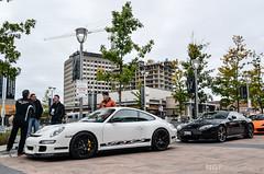 Track Stars. (NGP|Photography) Tags: white black cars coffee martin porsche rs aston vantage v12 gt3 997