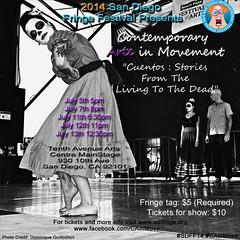 Cuentos ... (Dom Guillochon) Tags: california usa festival poster dance movement dancers arte sandiego contemporary arts fringe northpark cuentos dominiqueguillochon
