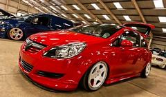 Vauxhall Corsa D (technodean2000) Tags: uk cruise red swansea nikon d modified lowered vauxhall corsa lightroom d5200