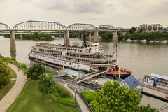 Chattanooga Delta Queen (rschnaible) Tags: park old usa history chattanooga wheel river boat us day tn cloudy tennessee south sightseeing paddle delta coolidge tourist historic queen southern transportation riverfront circa steamer attraction 1927