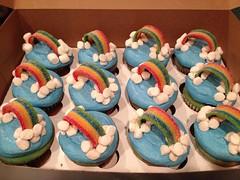 Rainbow cupcakes, Triad Area, NC, www.birthdaycakes4free.com