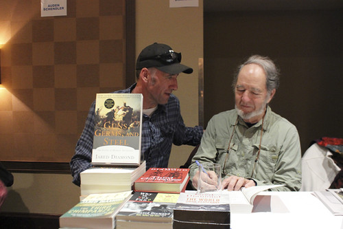 Reading Frenzy - author Jared Diamond & festival director David Holbrooke