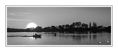 Stroke B & W (Brett Huch Photography) Tags: sunset sky reflection nature water creek reflections river australia nsw aussie goldcoast tweedriver tweedheads tweedheadsriver