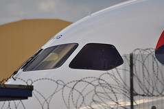 787 windshield (A380spotter) Tags: windscreen windshield wipers cockpit boeing 787 8 800 dreamliner™ dreamliner za456 gzbjg internationalconsolidatedairlinesgroupsa iag britishairways baw ba britishairwaysengineering eastbase no1 numberone maintenancebase london heathrow egll lhr