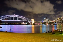 Away from the City.. (Kapil Sabharwal) Tags: longexposure art festival contrast photography lights nikon opera nightscape harbour awesome sydney vivid australia circularquay projection nsw laser cbd operahouse harbourbridge hdr sydneycbd d7100 ilovesydney sydneyvivid