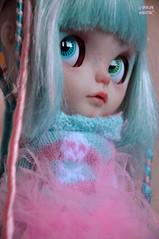 Dubhe will be looking for love tomorrow! (♥PAM♥dolls♥) Tags: pink baby cute dreadlocks sweet ooak blythe piercings cyberpunk customblythe pamdolls