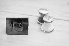 Bad luck (T3x) Tags: table salt bad luck verano vacaciones estepona mala mesa sal thirteen 2014 suerte trece