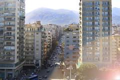 Buongiorno! (Magryciak) Tags: street city trip travel cruise light urban italy eos europe mediterranean ship traffic lensflare scape palermo