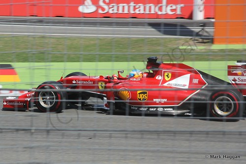 Fernando Alonso in qualifying for the 2014 German Grand Prix