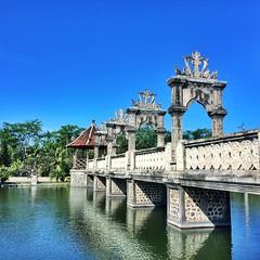 Taman ujung, a.k.a Water palace, Karangasem, Bali (Pius Cardia) Tags: summer bali holiday palace iphone waterpalace karangasem squarephotography tamanujung vsco