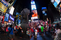 Times Square, The Father Duffy Monument (BasikKl) Tags: new york nyc usa ny newyork monument night canon square eos us manhattan father fisheye timessquare times duffy canoneos noc nightimage basik nocne nowyjork canoneos5dmarkii 5dmark2 815mm ef815mmf4lusm ef815mm ef815mmf4l canonef815mmf4fisheyeusm basikphotography thefatherduffymonument rybieoczko